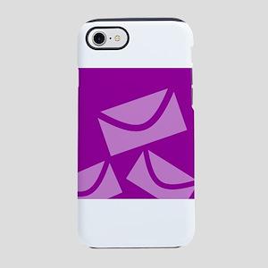 Neon Purple Envelopes iPhone 8/7 Tough Case