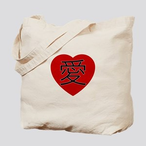 Chinese Love Heart Tote Bag