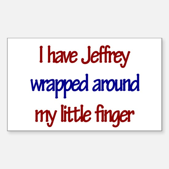 I Have Jeffrey Rectangle Decal