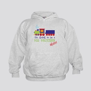 going to be a big brother train Kids Hoodie