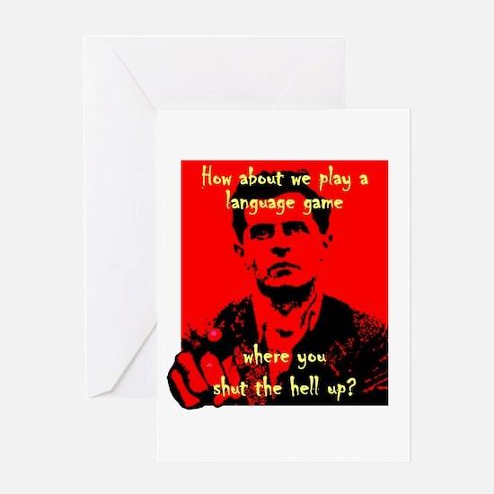 Wittgenstein Greeting Card