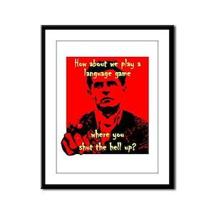Wittgenstein Framed Panel Print