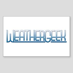 WeatherGeek Rectangle Sticker