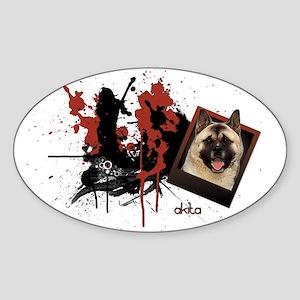 Akita Oval Sticker