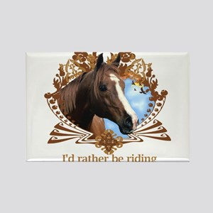 I'd Rather Be Riding Rectangle Magnet