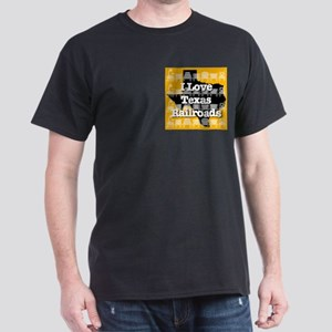 I Love Texas Railroads Dark T-Shirt