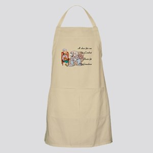 My Grandson's Boots BBQ Apron