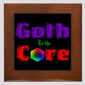 Goth to the Core Framed Tile