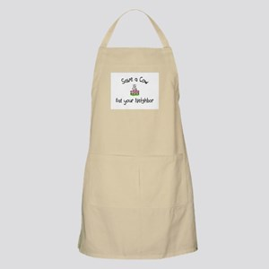 Save A Cow, Eat Your Neighbor BBQ Apron