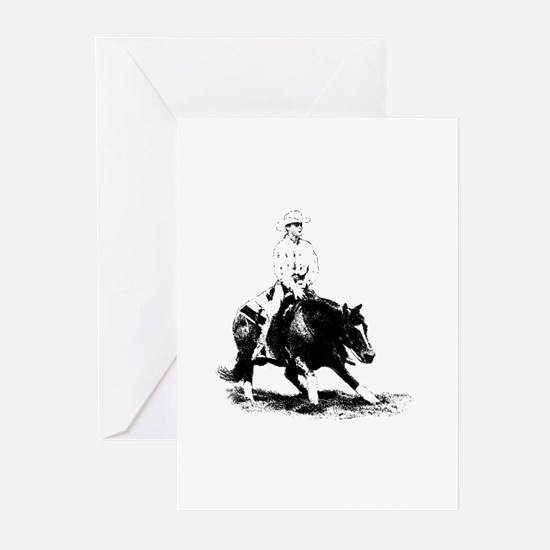 cutting horse Greeting Cards (Pk of 20)