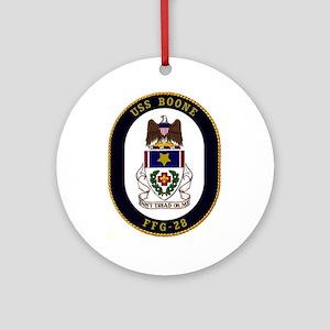 USS Boone FFG-28 Ornament (Round)