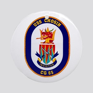 USS Chosin CG-65 Ornament (Round)