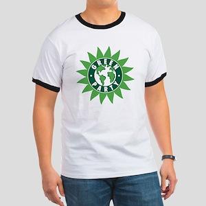 Green Party Logo (Sunflower/G Ringer T