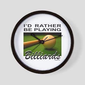BILLIARDS/POOL Wall Clock