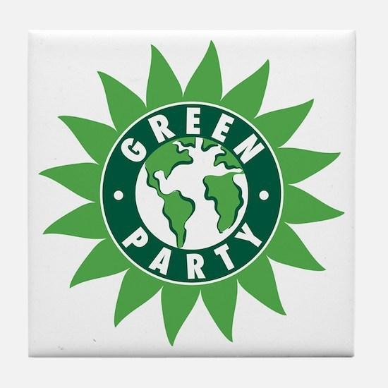 Green Party Logo (Sunflower/G Tile Coaster