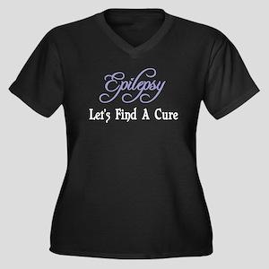 Epilepsy Let's Find Cure Women's Plus Size V-Neck