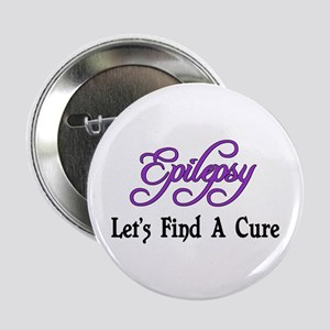"""Epilepsy Let's Find Cure 2.25"""" Button"""