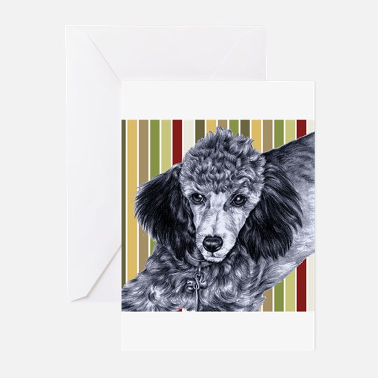 Penciled Poodle Greeting Cards (Pk of 10)