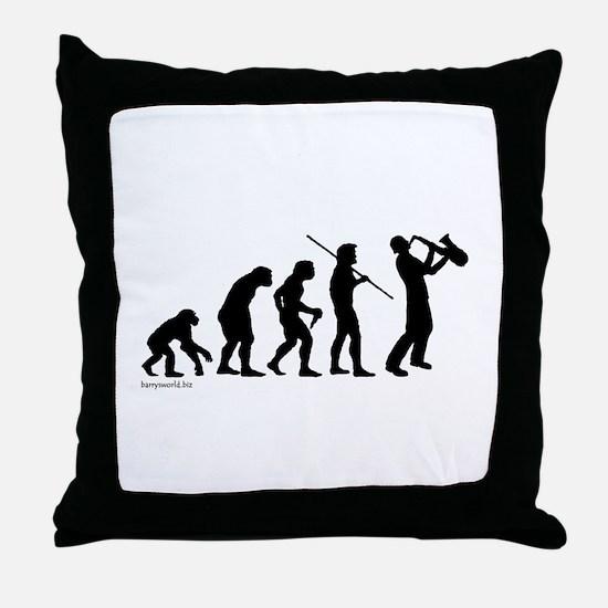 Sax Evolution Throw Pillow