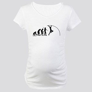 Pole Vault Evolution Maternity T-Shirt