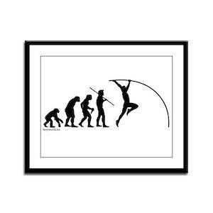Pole Vault Evolution Framed Panel Print
