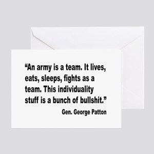 Patton Army Team Quote Greeting Card