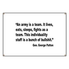 Patton Army Team Quote Banner