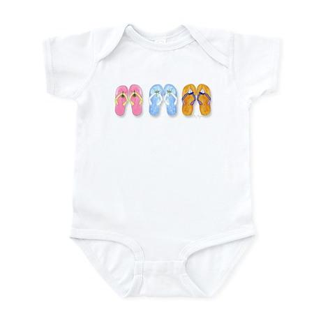 3 Pairs of Flip-Flops Infant Creeper