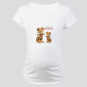 Dogs Big Brother Maternity T-Shirt