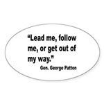 Patton Lead Follow Quote Oval Sticker (10 pk)