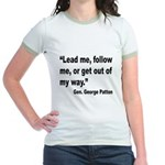 Patton Lead Follow Quote Jr. Ringer T-Shirt