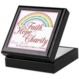 International order of rainbow for girls Square Keepsake Boxes