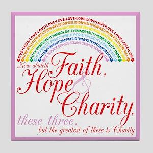 IORG-Faith,Hope,Charity Tile Coaster