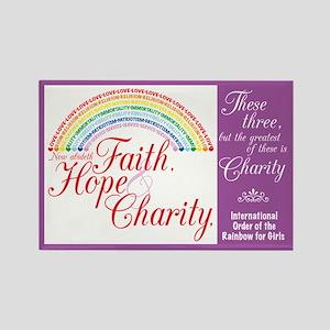 IORG-Faith,Hope,Charity Rectangle Magnet