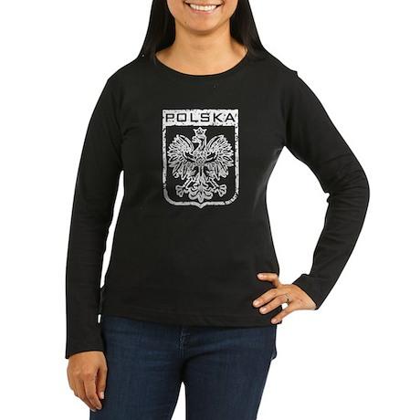 Polska Women's Long Sleeve Dark T-Shirt