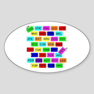 Tag It! Oval Sticker