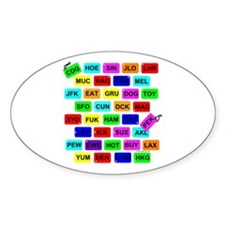 Tag It! Oval Sticker