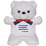 Patton Damnedest Quote Teddy Bear