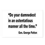 Patton Damnedest Quote Postcards (Package of 8)