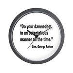 Patton Damnedest Quote Wall Clock