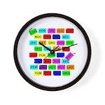 Tag It! Wall Clock