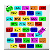 Tag It! Tile Coaster