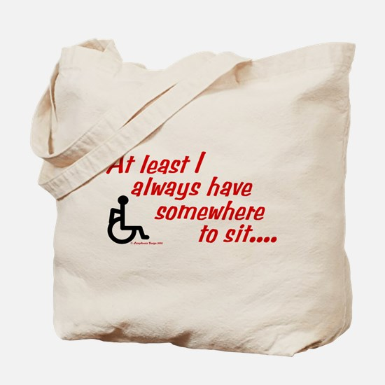 Somewhere to sit Tote Bag