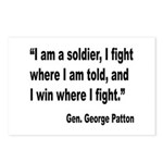 Patton Soldier Fight Quote Postcards (Package of 8