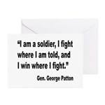 Patton Soldier Fight Quote Greeting Cards (Pk of 2