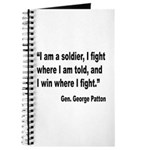 Patton Soldier Fight Quote Journal