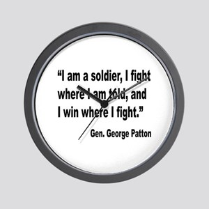 Patton Soldier Fight Quote Wall Clock