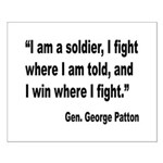 Patton Soldier Fight Quote Small Poster