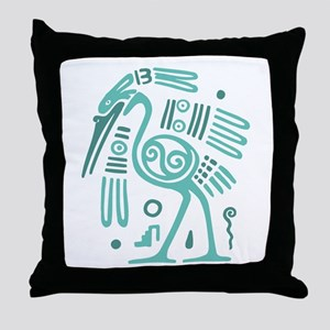 Tribal Crane Throw Pillow