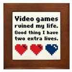 Video Games Ruined My Life. Framed Tile